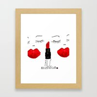 Red Lipstick Club Framed Art Print