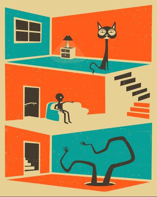 The Stranger in the Basement Art Print