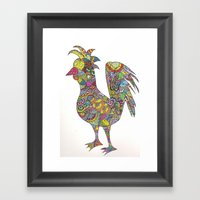 Mad Chickens Framed Art Print