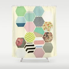 Florals and Stripes Shower Curtain