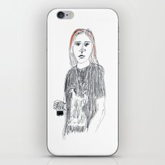 Biro and coloured pencil portrait  iPhone & iPod Skin