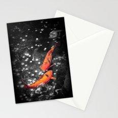 Lucky Koi Fountain Stationery Cards