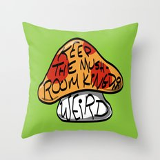 Keep The Mushroom Kingdom Weird Throw Pillow