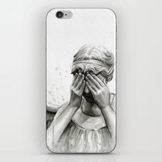 Weeping Angel Watercolor Art iPhone & iPod Skin