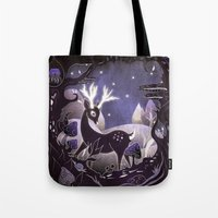 Tote Bag featuring Protector of the Forest by Lynette Sherrard Illustration and Design