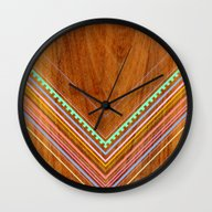 Wall Clock featuring Aztec Arbutus by Jenny Mhairi