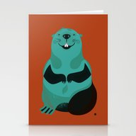 Beaver Stationery Cards