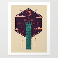 Art Print featuring The Tower Azure by Hector Mansilla