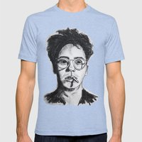 Robert Downey Jr. Mens Fitted Tee Tri-Blue SMALL