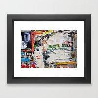 Urban collage Framed Art Print