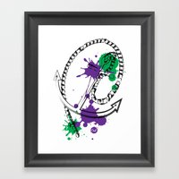 Out Anchor Framed Art Print