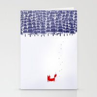 blue Stationery Cards featuring Alone in the forest by Robert Farkas