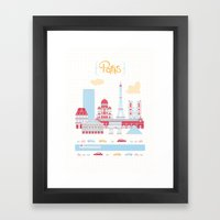 Paris Landscape Framed Art Print