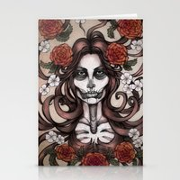 Blossoming Day of the Dead Stationery Cards