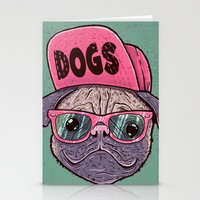 dogs Stationery Cards featuring Dogs by Lime