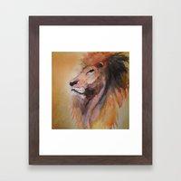 Lion Watercolor  Framed Art Print