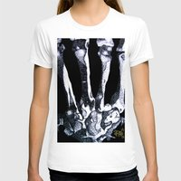 Hand Bones Womens Fitted Tee White SMALL