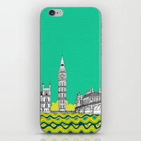 London Town Pop Art with spotty sky II iPhone & iPod Skin