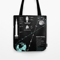 Apollo 11 Mission Diagram Tote Bag