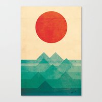 Canvas Prints featuring The ocean, the sea, the wave by Picomodi