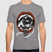 Poetry Slam  Mens Fitted Tee Tri-Grey SMALL