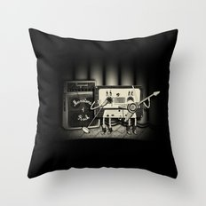 Conjoined Monsters of Rock Throw Pillow