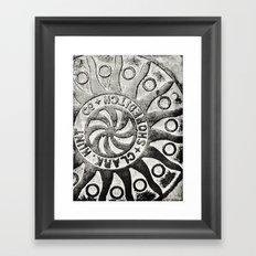 Manhole Cover 4 Framed Art Print