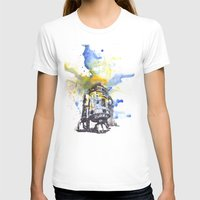 R2D2 from Star Wars Womens Fitted Tee White SMALL