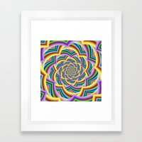Colorful Curved Chevron Spiral Framed Art Print