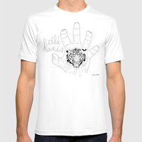 Wild hands Mens Fitted Tee White SMALL