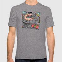 Travel Create Explore Mens Fitted Tee Tri-Grey SMALL