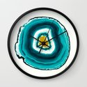 Agate Turquoise  Wall Clock
