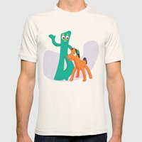 Gumby & Pokey Mens Fitted Tee Natural SMALL