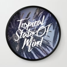 Tropical State Of Mind Wall Clock