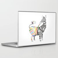 zebra Laptop & iPad Skins featuring Zebra by gunberk