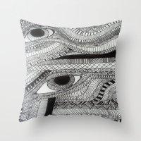 2 eyes Throw Pillow