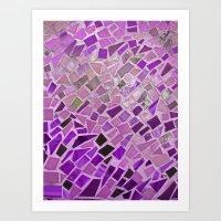 Friday Night Mosaic Art Print