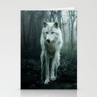 wolf Stationery Cards featuring Wolf by Julie Hoddinott