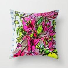 Bougainvillea 2 Throw Pillow