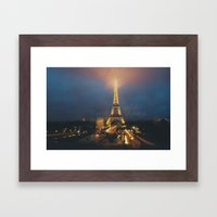 all lit up ... Framed Art Print