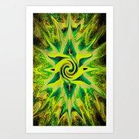 RASTA STAR Art Print