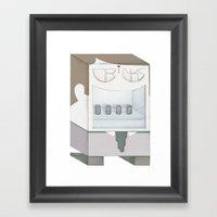 Friendly Vending Machine Framed Art Print