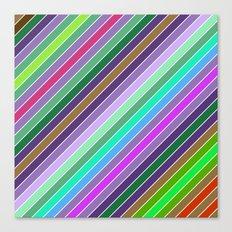 Happy diagonal lines Canvas Print
