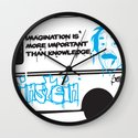 Albert Einstein - Streetwise Seniors Wall Clock
