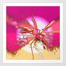 The tangled sunset web Art Print