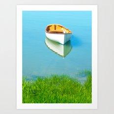 Serene boat scene#1 Art Print