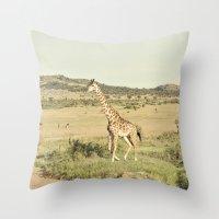 crossing::kenya Throw Pillow