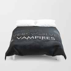 Ghosts, Werewolves & Vampires Duvet Cover