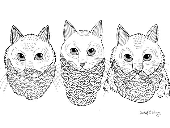 Cats With Beards Canvas Print