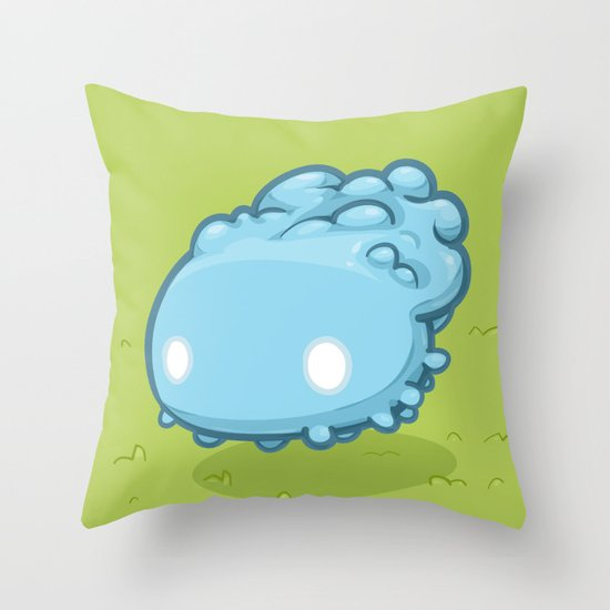 Marshmallow Blob Throw Pillow